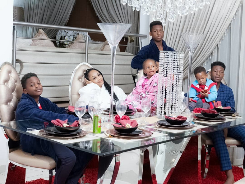 Zari Hassan with her kids