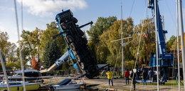 Koszmar w Szczecinie. Potężny dźwig runął na ziemię. ZDJĘCIA