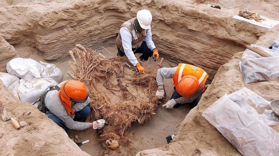 Prace archeologiczne w Chilica w Peru