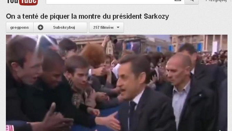 Sarkozy ukrył przed wyborcami zegarek
