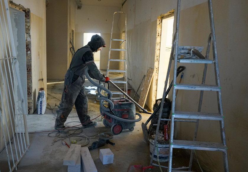 Trwa remont budynku szkoły