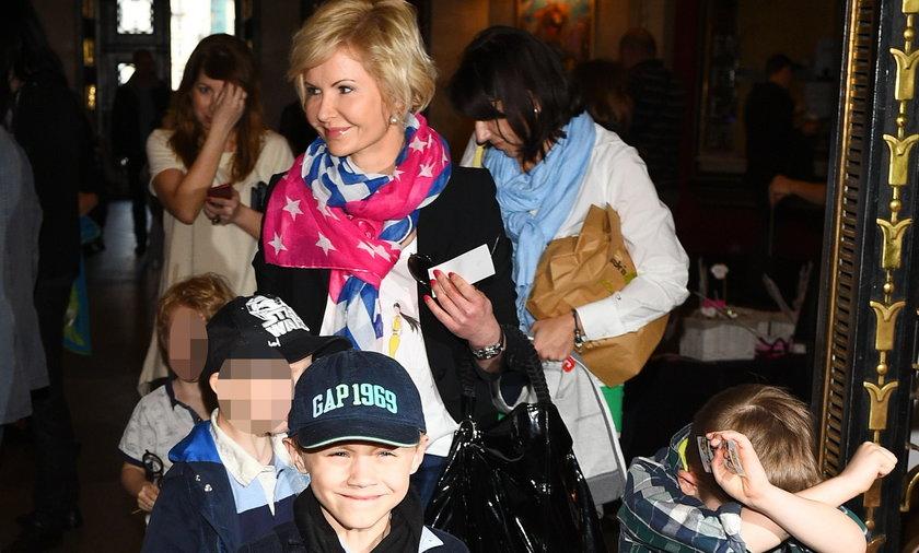 Joanna Racewicz z synem