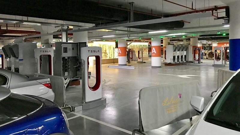 Stacja ładowania akululator ow w Szanghaju