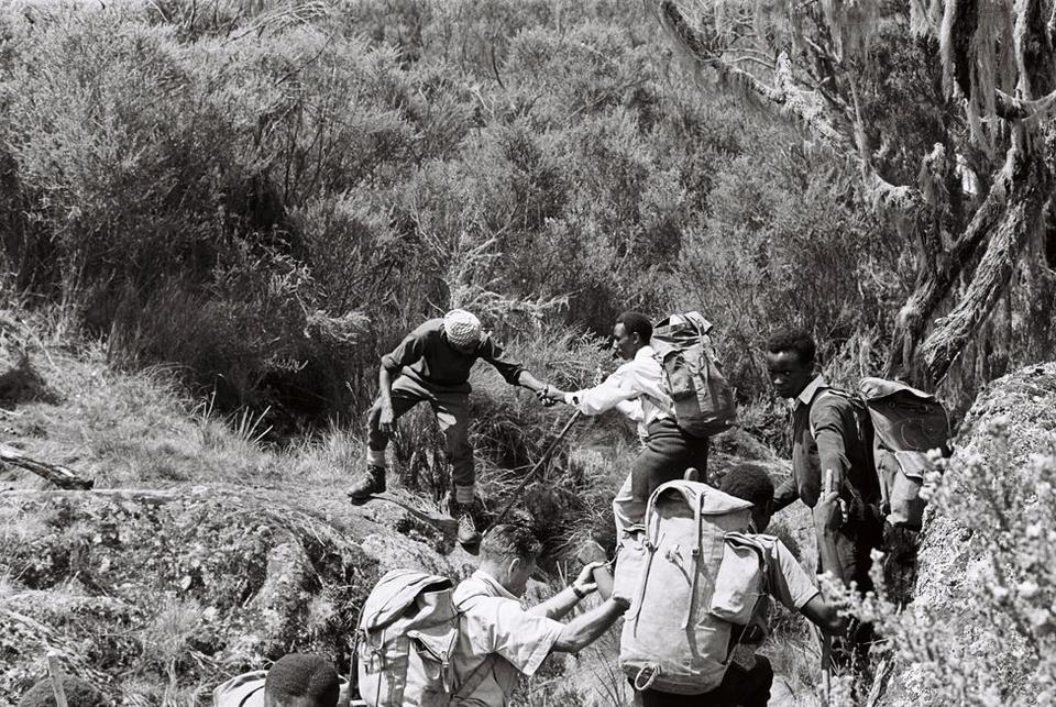 The story of the blind climbers in 1969 [Paul Latham/Sightsavers]