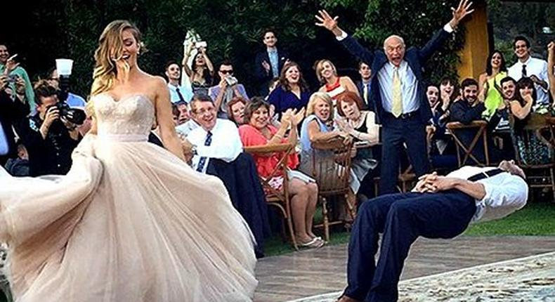 Magician, Justin Willman suspended himself in the air during his wedding to photographer, Jillian Sipkins
