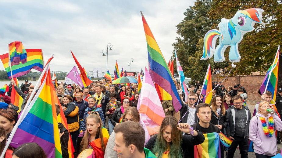 Parada Równości w Toruniu, 9 września 2020 r.