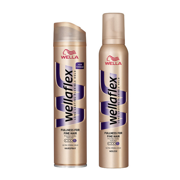 Wella Wellaflex Fullness for fine hair lakier i pianka