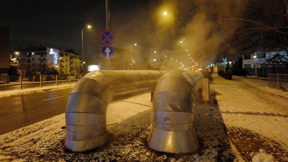 Jedna z awarii w Warszawie, 17 stycznia 2021 r.