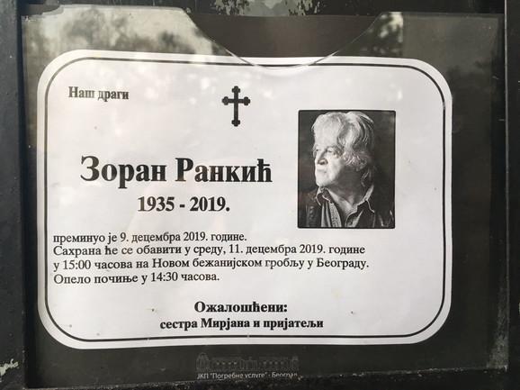 Sahrana - Zoran Rankić Popara