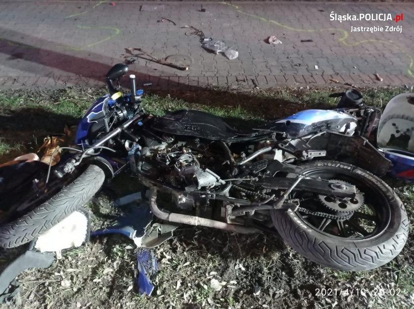 Tragiczna śmierć  motocyklisty w Jastrzębiu Zdroju