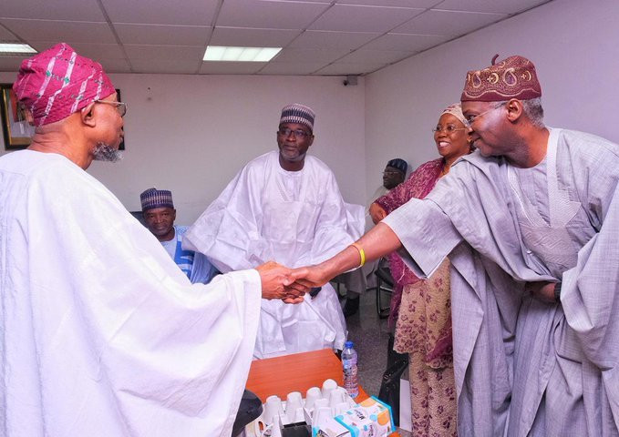Former Osun and Lagos Governors, Aregbesola and Fashola are expected to be handed juicy portfolios (Aregbesola media)