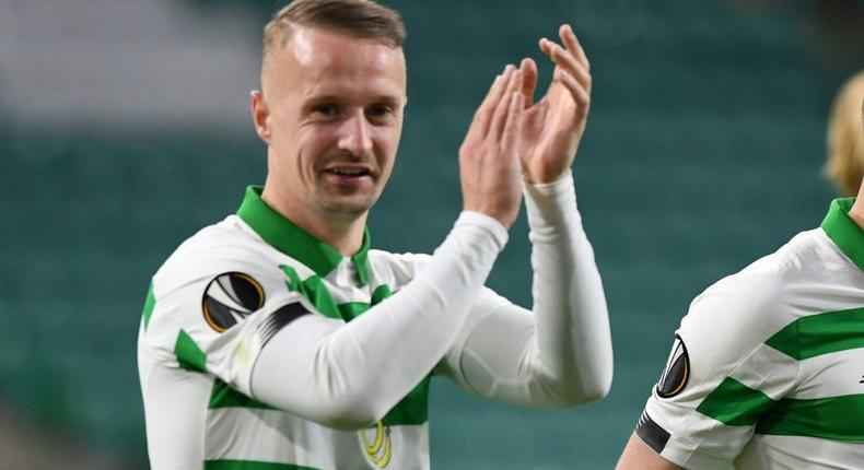 Scotland forward Leigh Griffiths has been charged by police for kicking a smoke bomb back into the crowd Creator: ANDY BUCHANAN