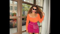 Beyonce colour blocking [instagram/beyonce]