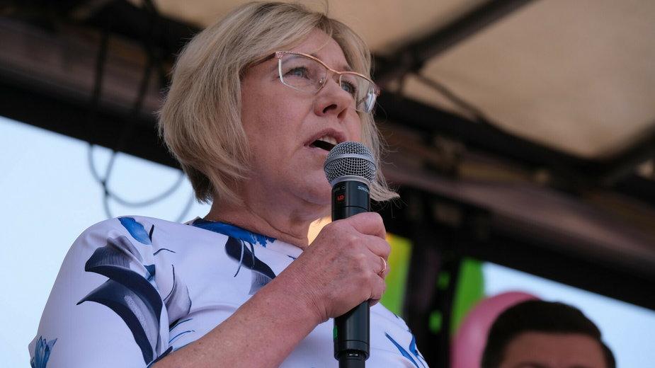 Barbara Nowak na Marszu dla Życia i Rodziny