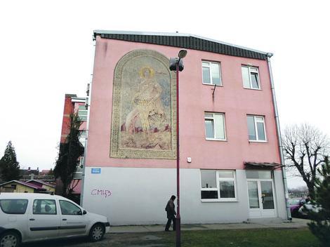 Najugroženiji je mural sa likom Svetog Dimitrija
