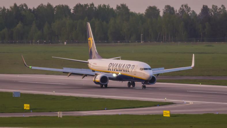 Samolot Ryanair ląduje w Wilnie po incydencie w Mińsku