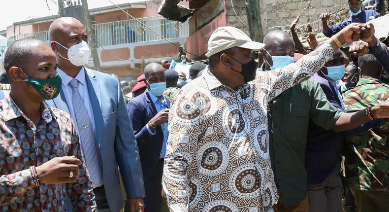 President Uhuru Kenyatta in Kayole Estate, Nairobi County