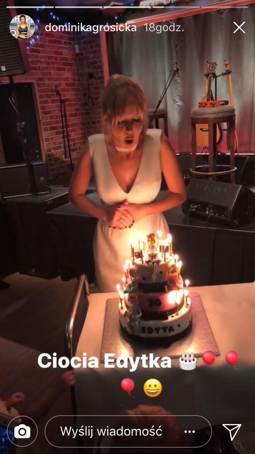 30. urodziny Edyty Pazury. Balują Lewandowska, Grosicka i Hyży