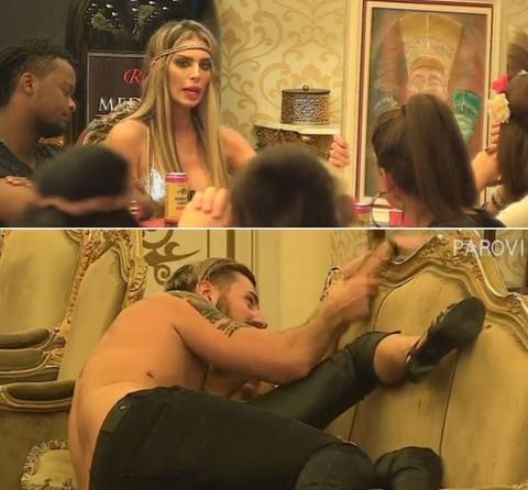 """VEĆ IMAMO BLAM GODINE? Ava Karabatić ušla u """"Parove"""" kako bi predstavila svoja umetnička dela, a već kroz par minuta je razvlačili po vili! VIDEO 18+"""