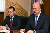 Predsednik Skupštine grada Novog Sada Zdravko Jelušić i sekretar novosadskog Parlamenta Marko Radin