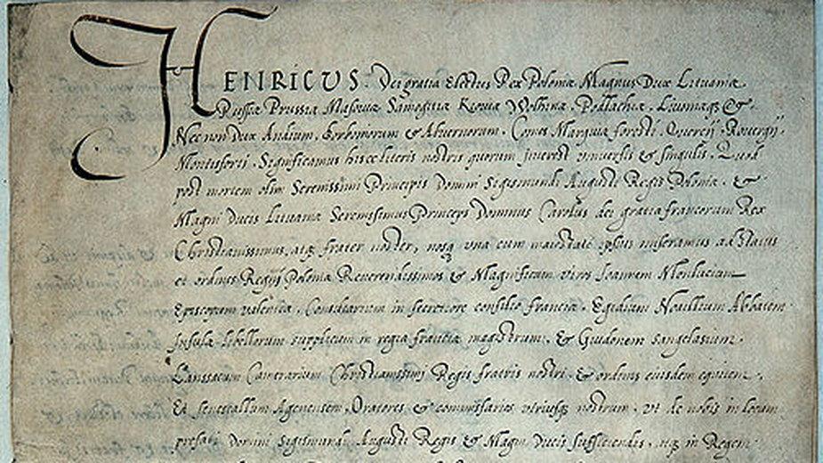 Pacta conventa Henryka Walezego - domena publiczna