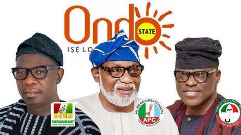The forthcoming election in Ondo is a contest between Agboola Ajayi of ZLP, Gov Rotimi Akeredolu of APC and Eyitayo Jegede of PDP (SignatureTV)