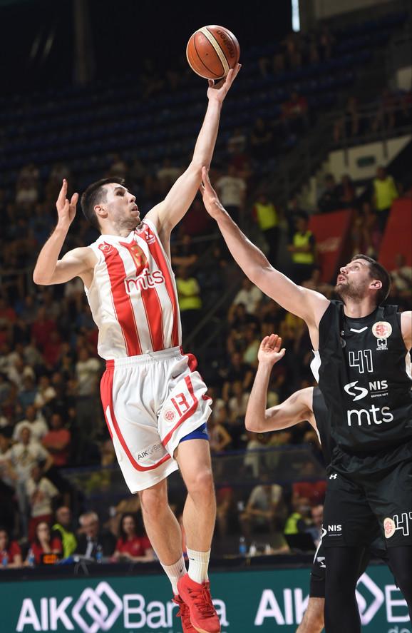 Ognjen Dobrić je postigao 16 poena protiv Partizana