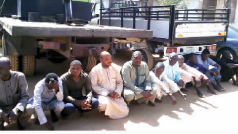 The retired ASP was arrested  for stealing generators