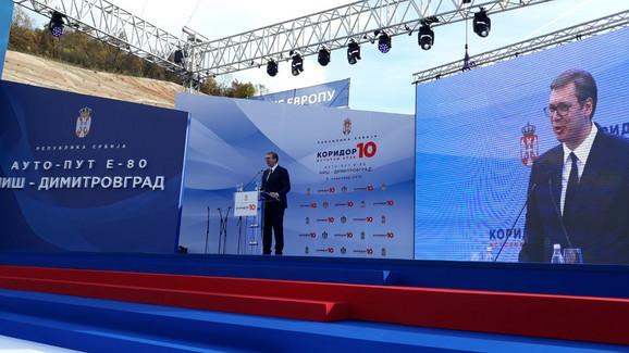 Aleksandar Vučić na otvaranje Koridora 10, istočni krak
