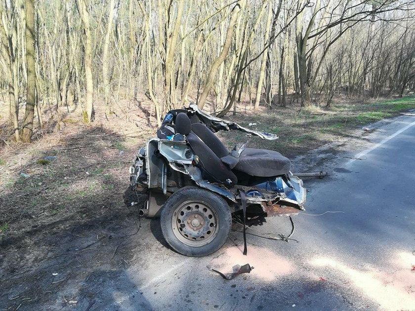Tragiczny wypadek koło Nowej Soli. Zginął 18-latek, jego dwaj koledzy zostali ranni