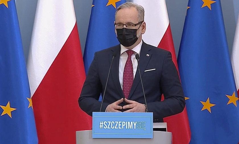 Na zdjęciu minister zdrowia Adam Niedzielski.