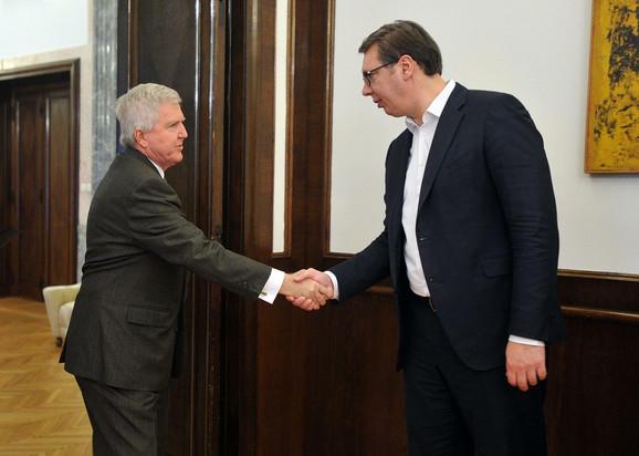 Kajl Skot i Aleksandar Vučić tokom današnjeg susreta