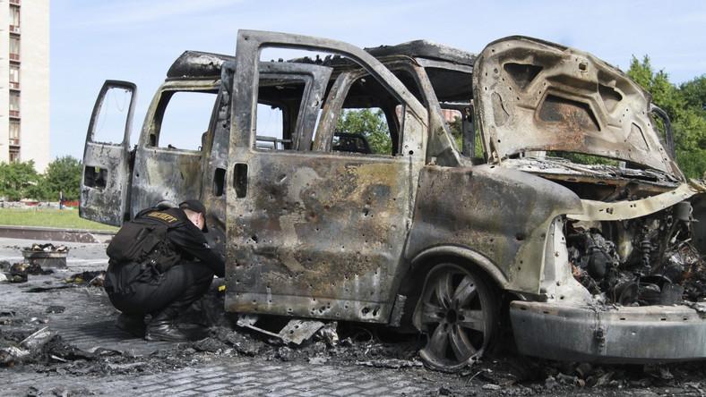 W Doniecku eksplodował minivan