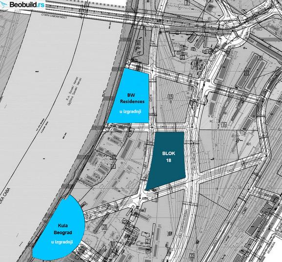 Mapa gde će se nalaziti novi objekti