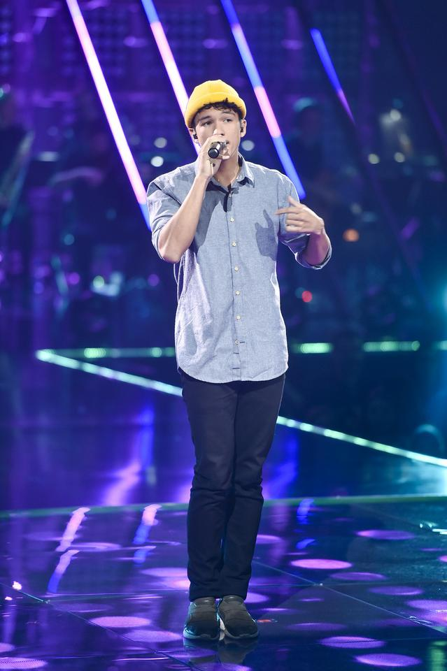 "Frans na planie ""The Voice of Poland 10"""