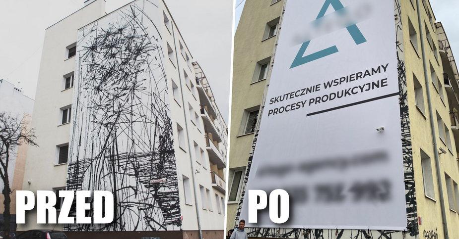 Gdynia: włoscy artyści namalowali mural. Zasłoniła go wielka reklama