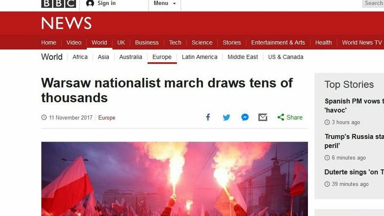Tytuł: Warszawski marsz nacjonalistów przyciągnął dziesiątki tysięcy (ludzi)WIĘCEJ