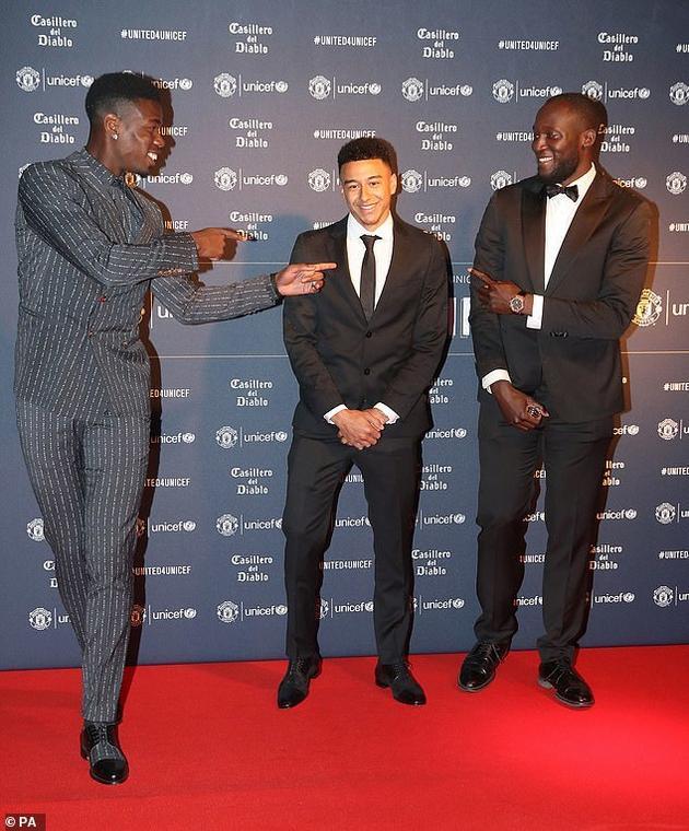 Paul Pogba, Jesse Lingard and Romelu Lukaku were all well dressed at the Manchester United gala [PA]