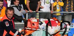 Łzy ojca po wypadku na torze. Jego syn rozbił się o bandę