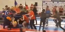 Zadyma podczas gali sztuk walki