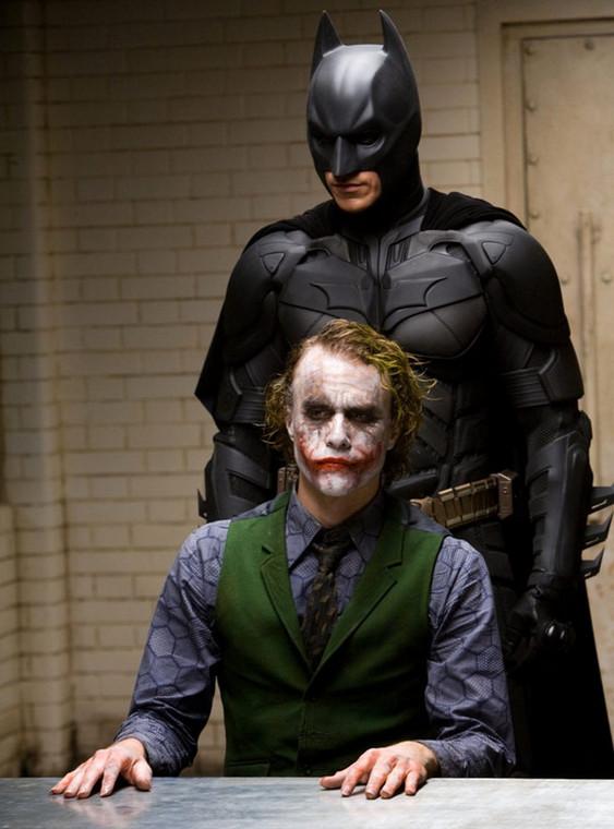"""Christian Bale i Heath Ledger w """"Mrocznym rycerzu"""""""