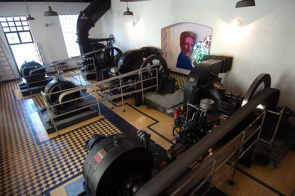Turbina u hidrocentrali na Đetinji