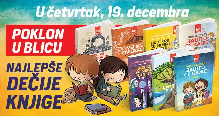 """Poklon knjige u četvrtak u """"Blicu"""""""