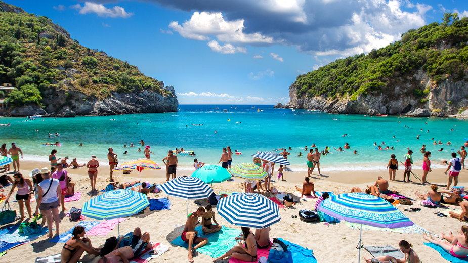 Plaża na Korfu, Grecja