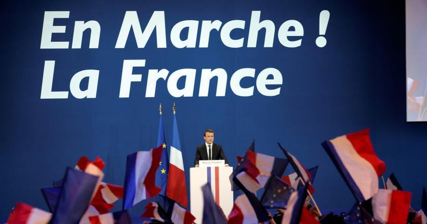 Wybory we Francji wstępnie wygrywa Emmanuel Macron, przez co ceny złota znacznie spadły