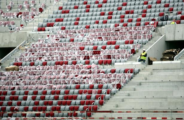 Stadion Narodowy w Warszawie w budowie.