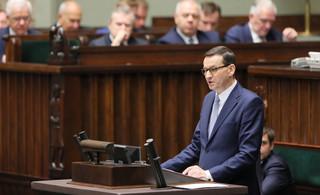 Sejm udzielił wotum zaufania rządowi Mateusza Morawieckiego. 'Za' głosowało dwoje posłów Koalicji Obywatelskiej