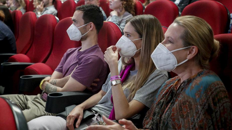 1 sierpnia 2020 r. otworzyły się ponownie w Rosji kina. Na zdjęciu: jedno z kin w Moskwie