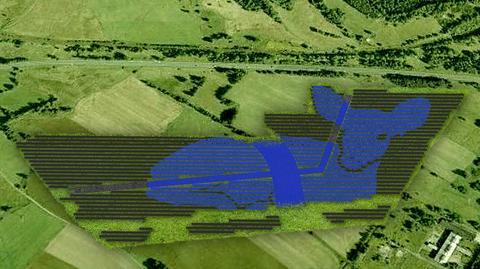 Z lotu ptaka i pobliskich szlaków górskich elektrownia solarna ma mieć kształt jelenia