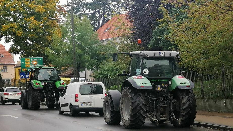 """Rolnicy z powiatu gryfickiego protestowali przeciwko tzw. """"piątce dla zwierząt"""""""